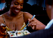 Anika Noni Rose's cleavage starring in 2010's FOR COLORED GIRLS ... 9 non-HD caps