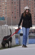 Энн Хэтэуэй, фото 5957. Anne Hathaway 'Walking her dog in Brooklyn', february 5, foto 5957
