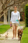 Summer Glau walking her dogs in Studio City, Calif. (March 16th, 2012)