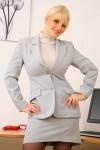 Вера Стивенс, фото 41. Faith Stevens - Grey Suit (OnlyTease), foto 41
