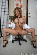 Pregnant woman in panties