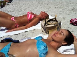 Danielle Harris - wearing a bikini at a beach in Florida 04/01/12